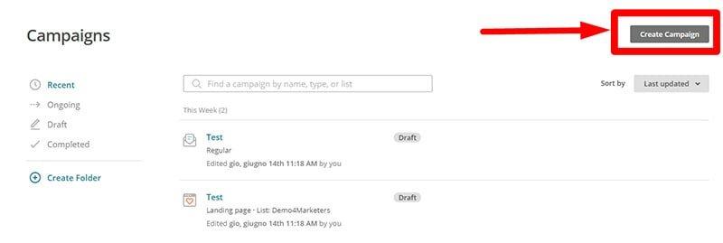 Come creare una newsletter Mailchimp