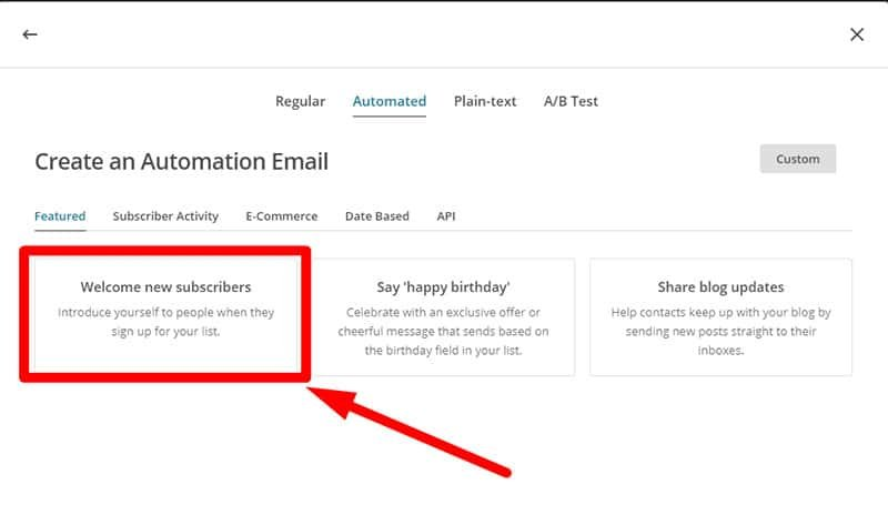 Mailchimp funzionalità avanzate