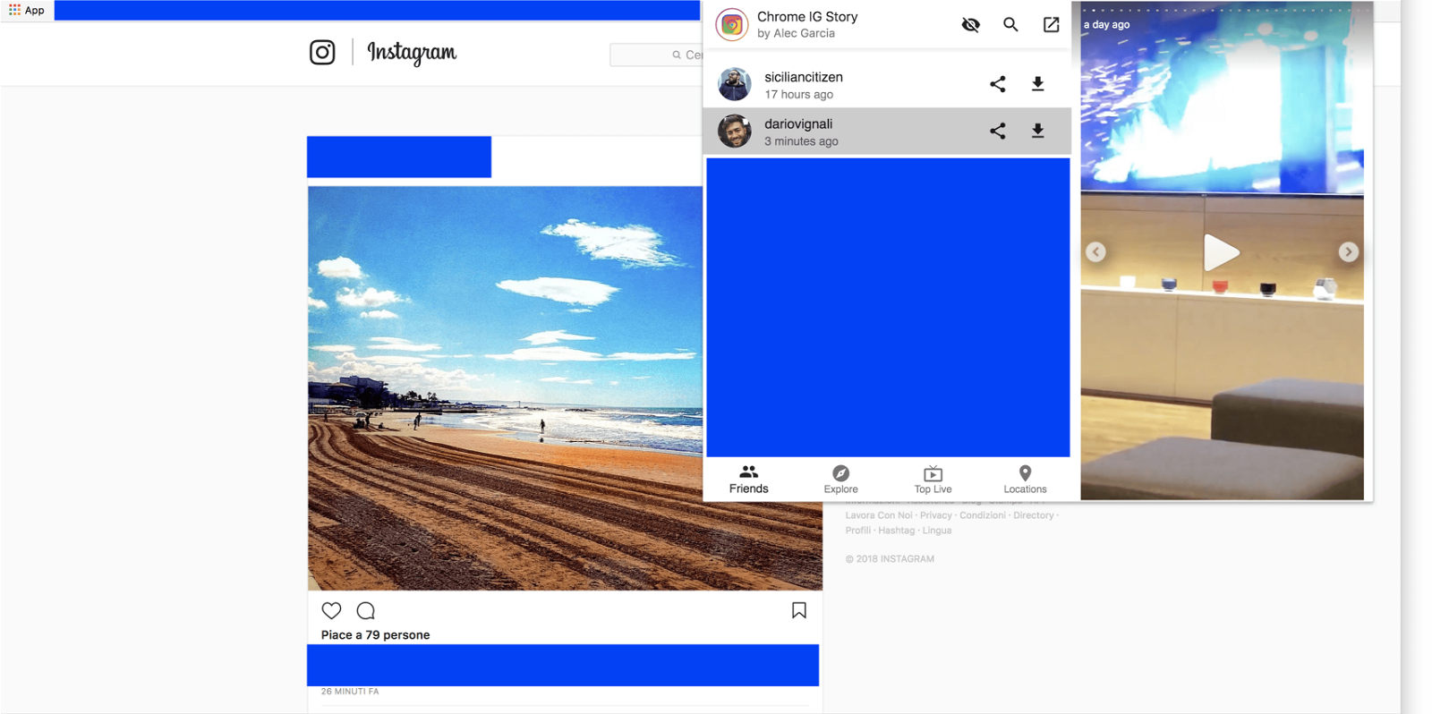 scaricare storie instagram da pc