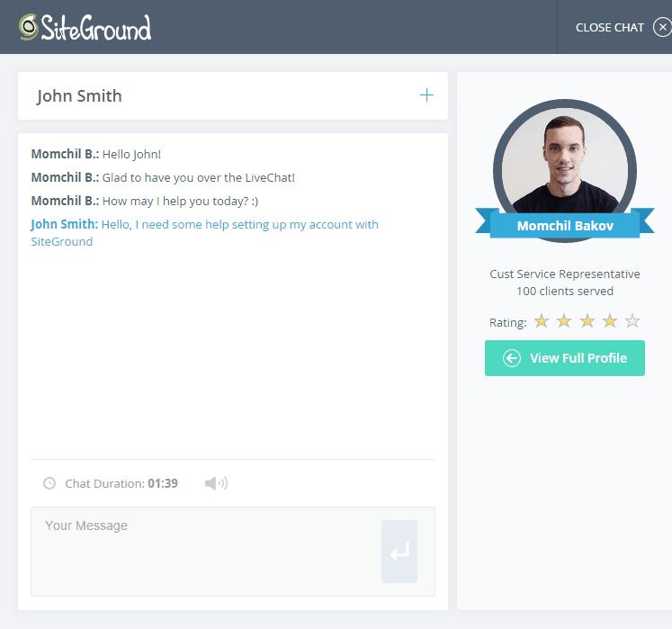 siteground customer care
