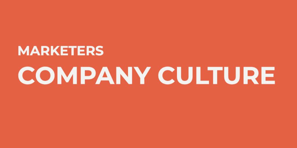 cultura aziendale di marketers