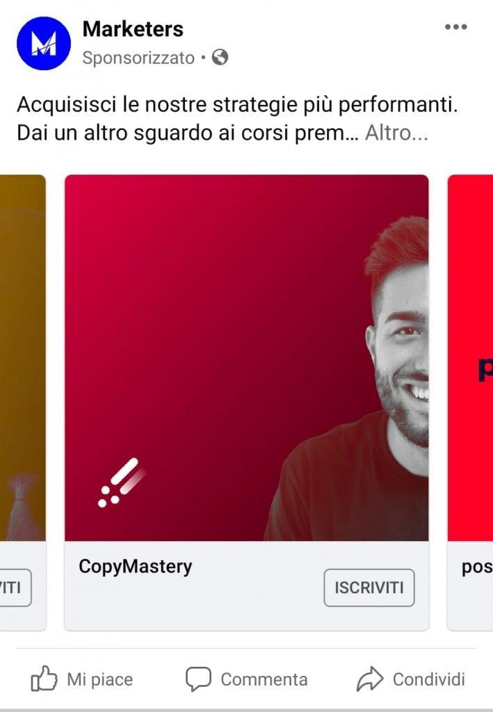Facebook ads sponsorizzata Facebook