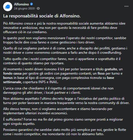Alfonsino: come chiudere un crowdfunding da €350k (in soli 3 giorni) 8