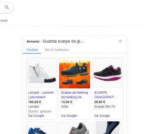 Google Ads annunci shopping