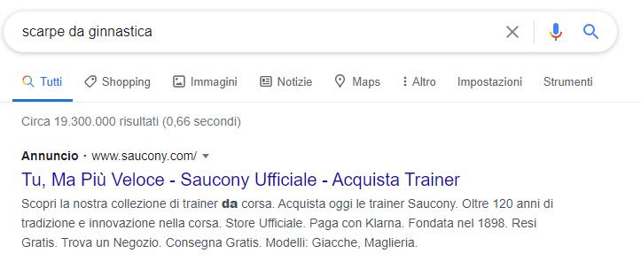Google Ads annuncio base