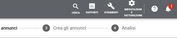 Google-Ads barra strumenti