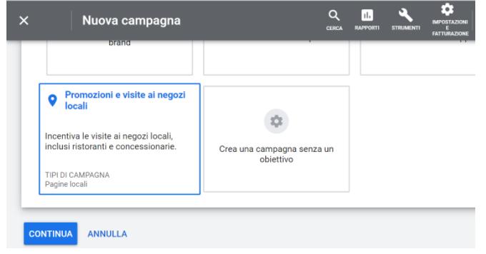 Google Ads campagna local