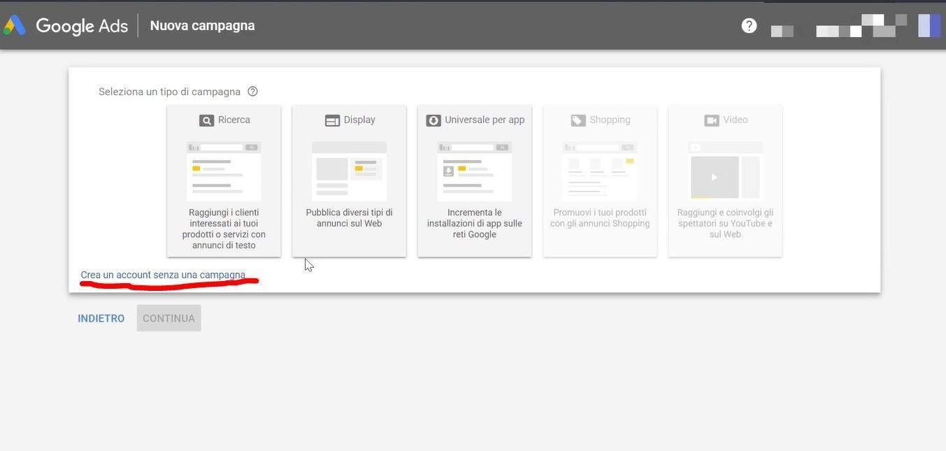 Google-Ads-creazione account