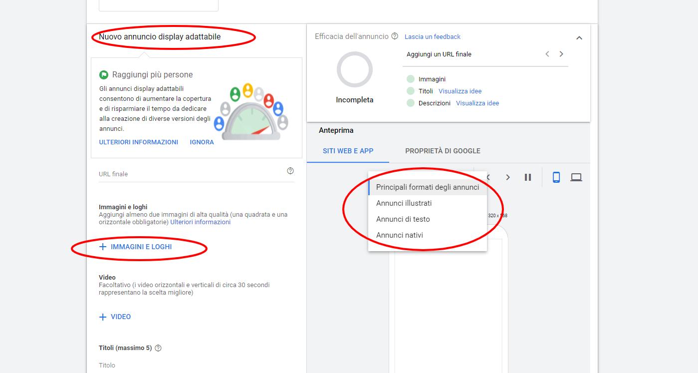 Google-Ads display adattabili