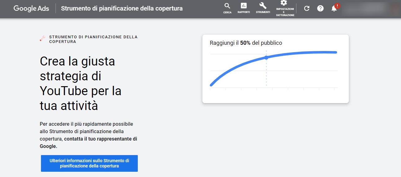 Google-Ads strumento copertura