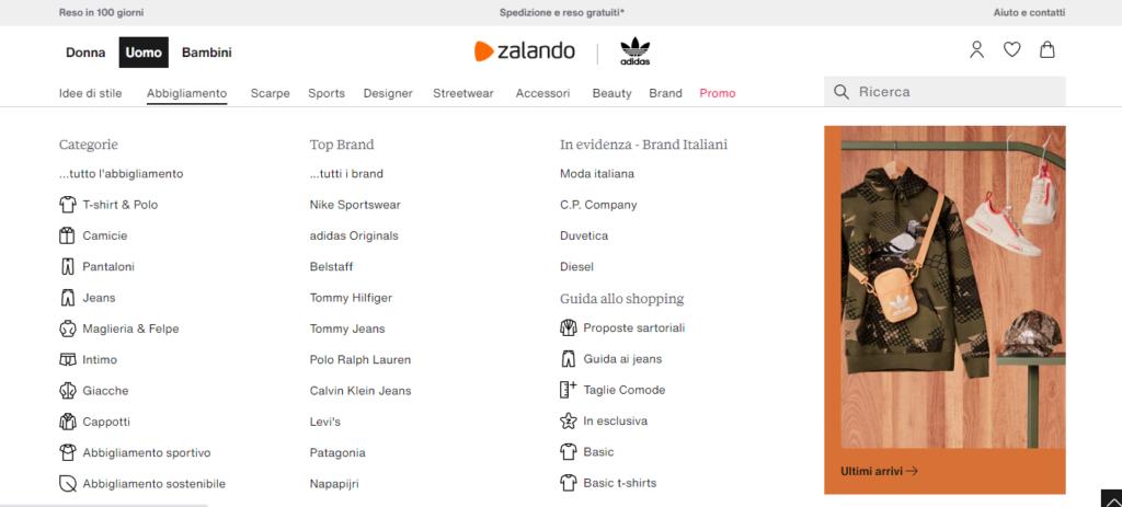 Guida E-commerce faccette