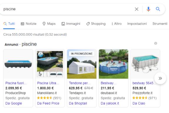 Guida E-commerce piscine