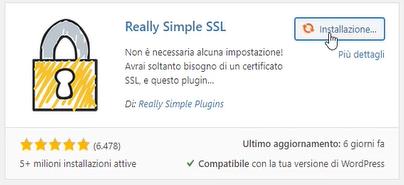 plugin per la sicurezza really simple ssl