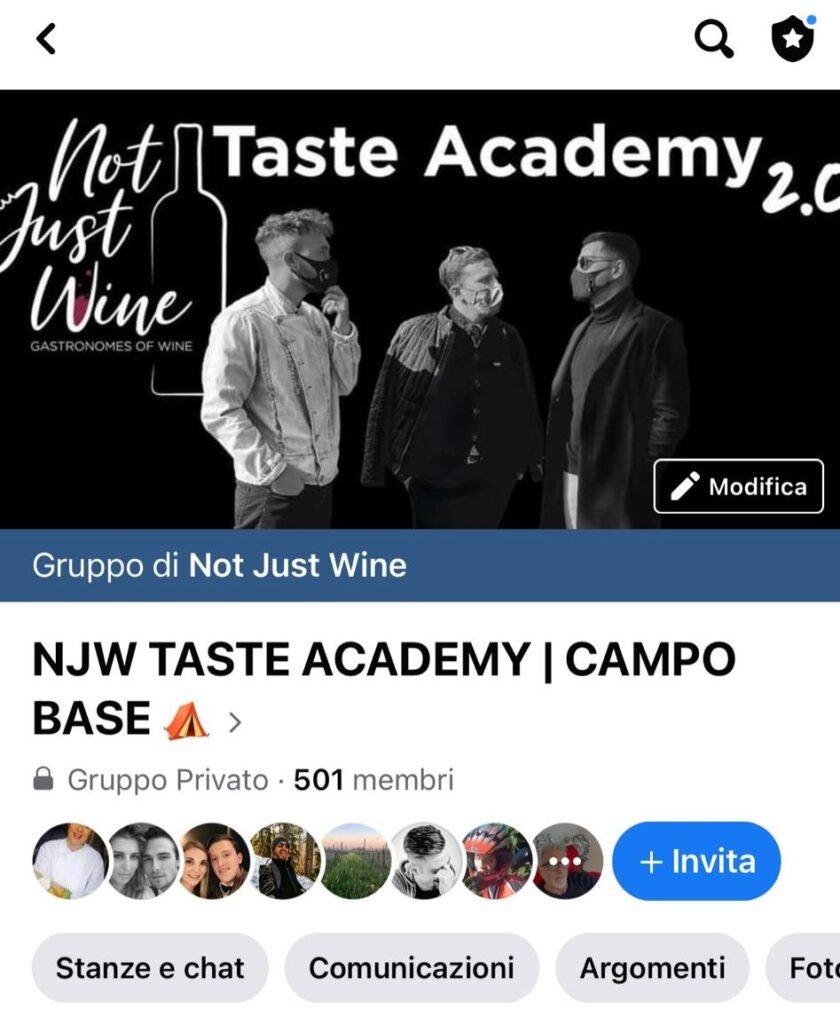 gruppo Facebook Taste Academy