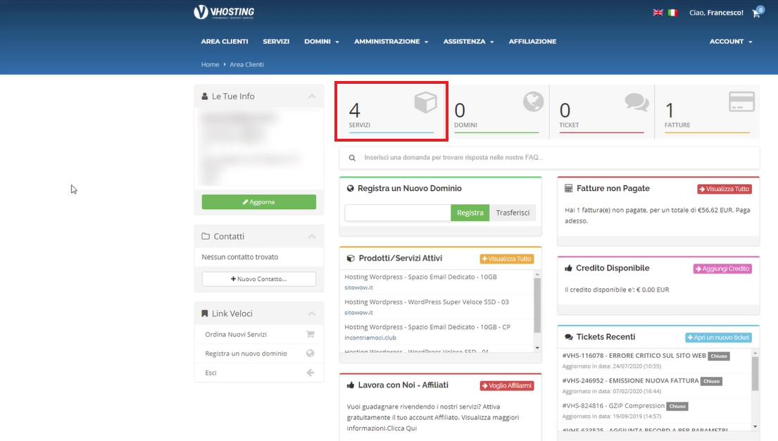 dashboard hosting provider