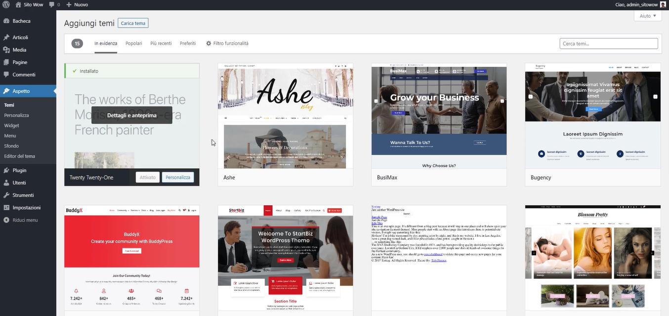 repository ufficiale dei temi di WordPress