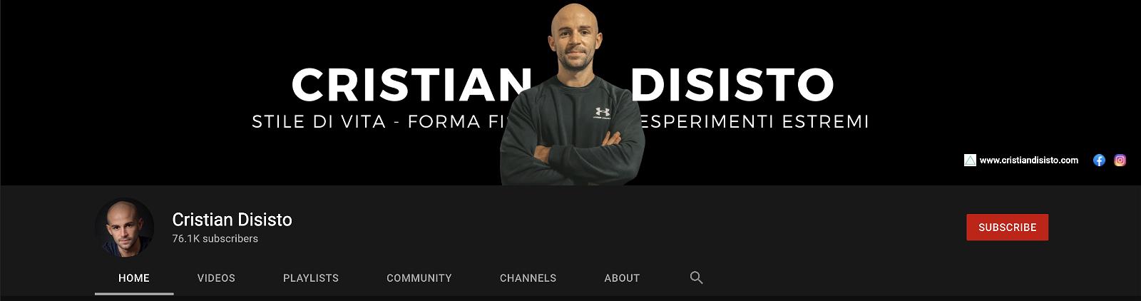 Canale-youtube-cristian-disisto