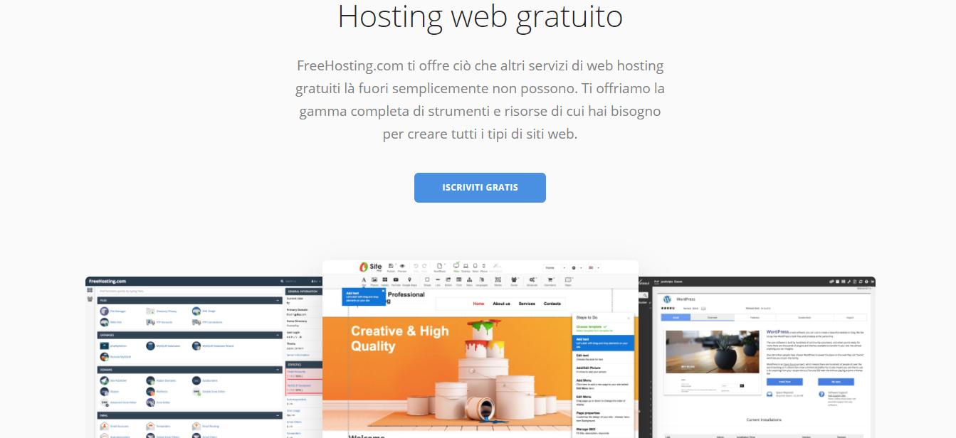 freehosting hosting gratuito