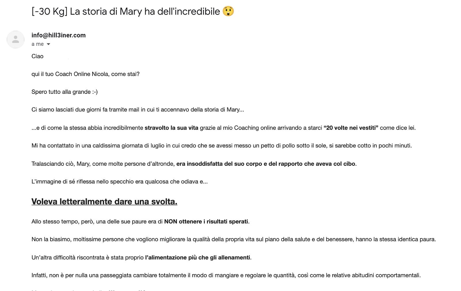 screenshot mail esempio sos