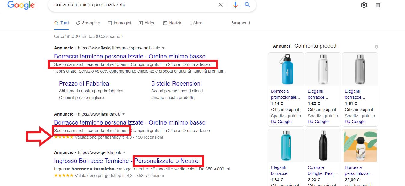 come scrivere un annuncio della campagna search di google ads