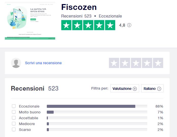 recensioni fiscozen il commercialista online