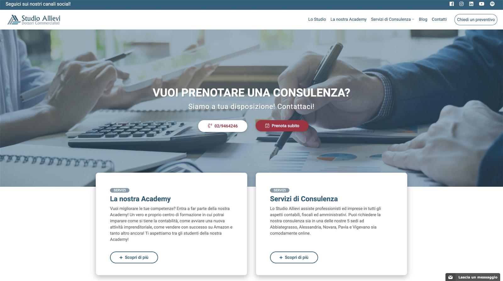 studio allievi homepage sito