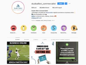 studio allievi profilo instagram