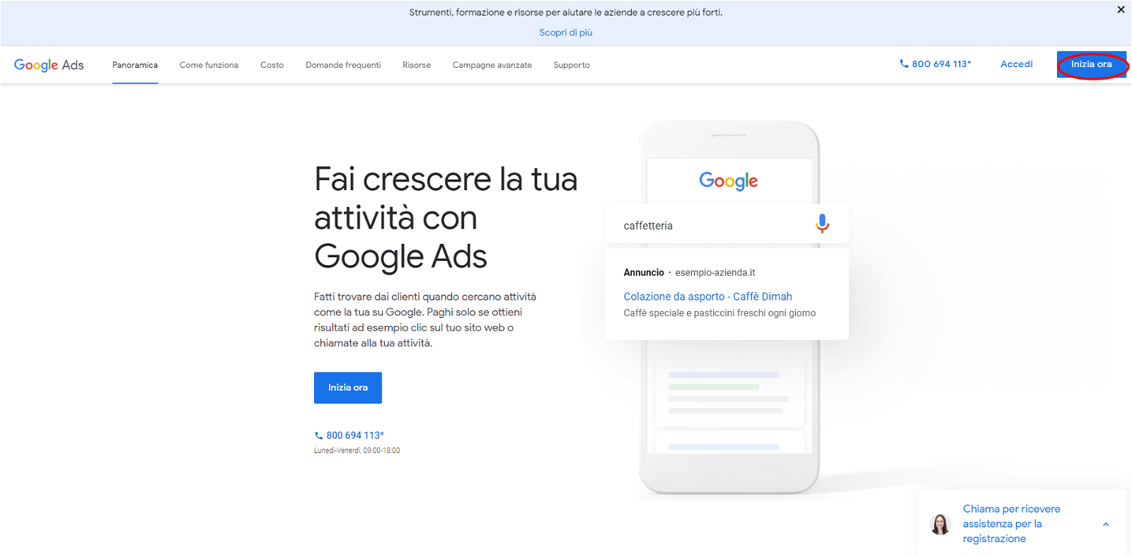 Account Google-Ads-pagina start