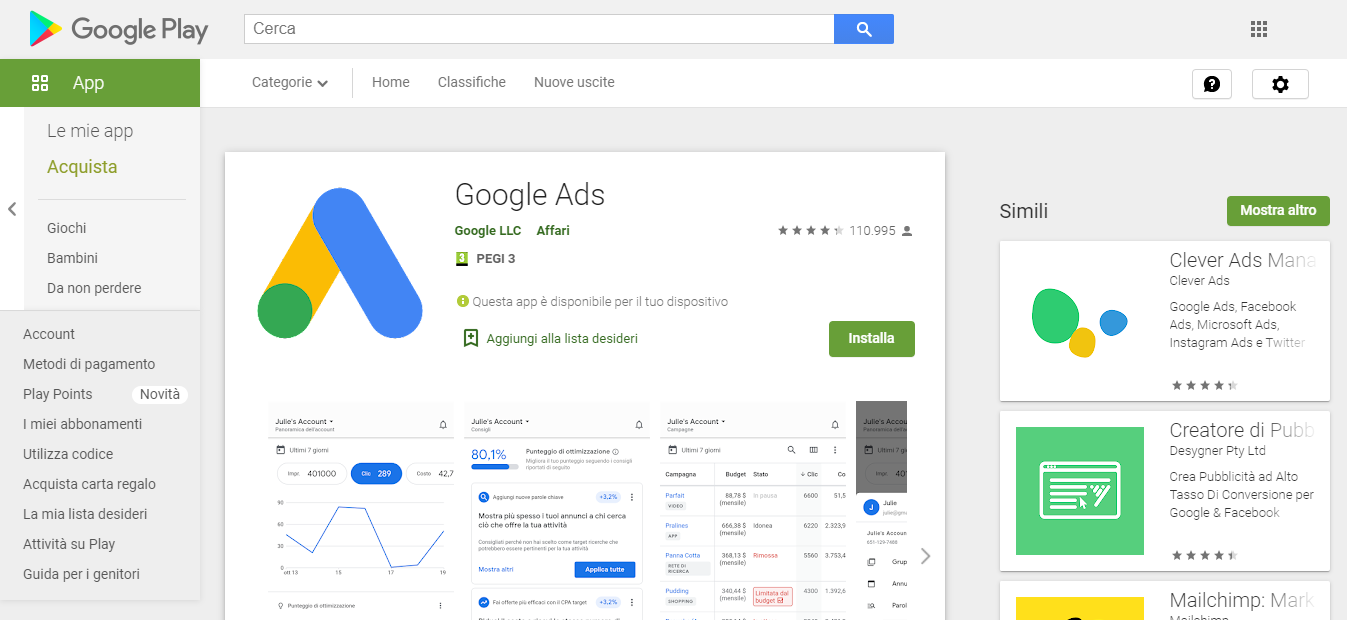 app google ads per gestire le campagne intelligenti da smartphone